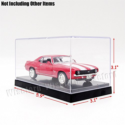 Tingacraft AcrylicDisplayCase/Box(5.7 x 3 x 2.6 inch) 2StepsPerspexDustproofShowCase for 3.75 inch Action Figure 1:64 Diecast Car Model (Figurine Display Case Amiibo compare prices)