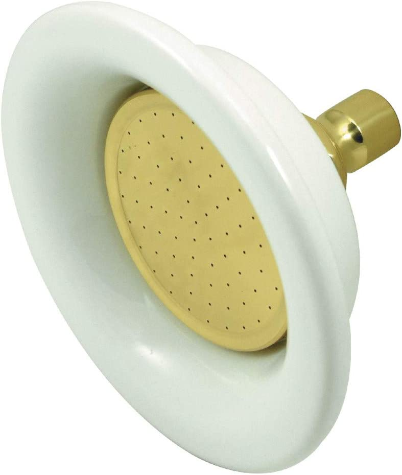 Kingston Brass P60PB Designer Trimscape Victorian Sunflower Showerhead, Polished Brass