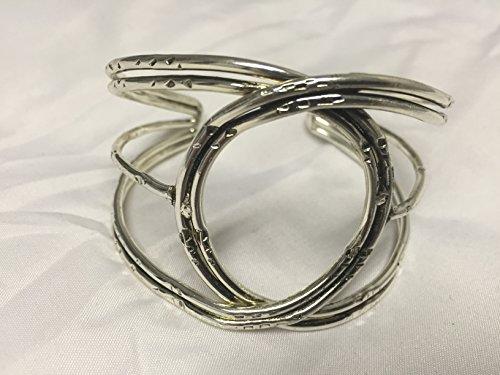 Gilt Foil (Brass Ethnic Bracelet with Silver Antique Finish)