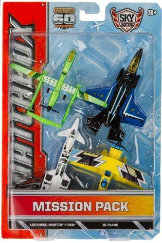 Twin Blast, Lockheed Martin F-35B, BI Plane, SB94 Drone Die-Cast Vehicle Pack: Matchbox Sky Busters Mission Pack Series
