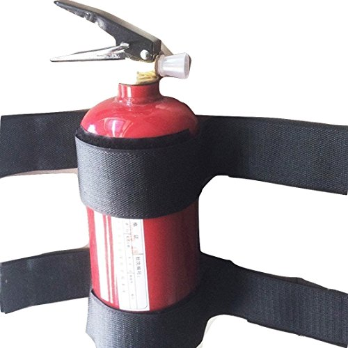 Fire-Extinguisher-Car-Trunk-Holder-Universal-Strap-Down-Design-5-piece-velcro-tie-down-bracket-style-kit-by-Jecr