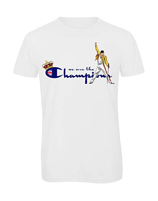 f6b810ff Bughyprint tshirt t-shirt maglia WE ARE THE CHAMPIONS BOHEMIAN RHAPSODY FREDDIE  MERCURY QUEEN: Amazon.it: Abbigliamento