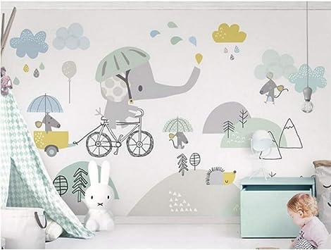 Personalizado Lindo Bicicleta Elefante Hámster Nube Niños Fondo ...