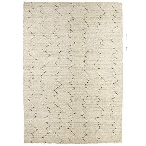 Karastan Prima Shag Fassi Woven Rug, 7'11x10'10, Ivory (Karastan Geometric Rug)