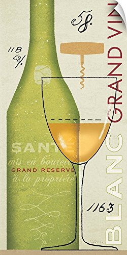 Canvas on Demand Sue Schlabach Wall Peel Wall Art Print entitled Grand Vin Blanc (Vin Grand Cru)