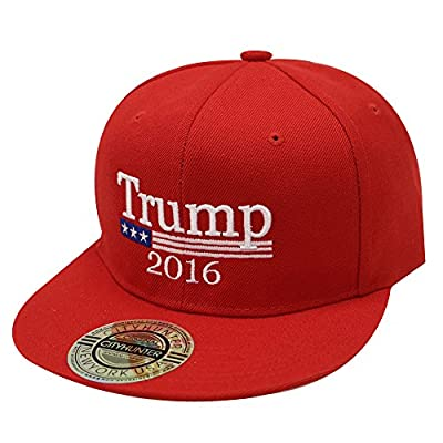 Cf918 Donald Trump with Flag Snapback Cap Red