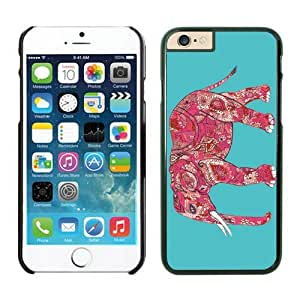Graceful Iphone 6 Case 4.7 Inches, Pattern Elephant Turquoise Background Iphone 6 Cases Black Phone Cover for Iphone 6 by supermalls