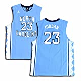 Jordan Big Boys' UNC North Carolina Tar Heels Replica Jersey Michael Jordan #23 (Medium, Blue/White)
