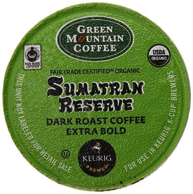 Green Mountain Coffee Organic K-Cup, Sumatran, 12-Count