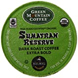 Kitchen & Housewares : Green Mountain Coffee Organic K-Cup, Sumatran, 12-Count
