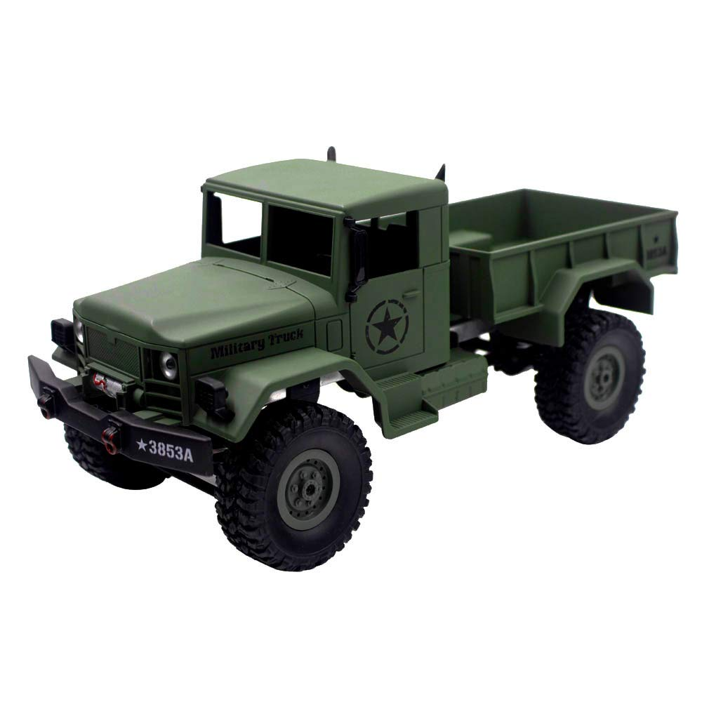 Choosebuy 1:16 Military Off-Road Remote Control Truck, Cool 6WD Powerful Engine Bright Spotlights RC Tracked Cars Toys with 2.4GHz Technology for Indoors/Outdoors (Army Green)