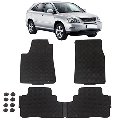 (Floor Mat for Lexus RX350 ECCPP Breathable Car Floor Liners 4Pcs New Durable Mats for 2010-2015 Lexus RX350- All Weather Heavy Duty Floor Protection(Black))