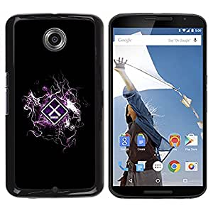 LECELL -- Funda protectora / Cubierta / Piel For Motorola NEXUS 6 / X / Moto X Pro -- Cool Design Danger Warning --