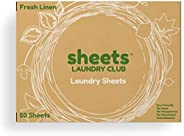The Largest Laundry Detergent Sheets, Plastic Free Fresh Linen Scent Eco-Friendly Hypoallergenic Safe For Sens