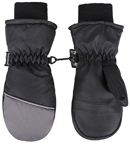 Jasmine Boys Snow Mittens Windproof Thinsulate Lined Winter Ski Mitten Gloves,S