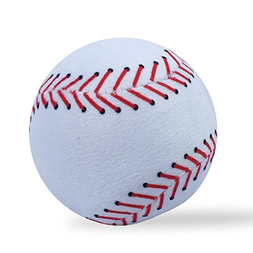(VERCART Baseball Toy Plush Fluffy Stuffed Sports Throw Ball Soft Durable Sports Baseball Toy Gift for Children Room Decoration Doll White 3 Inches)