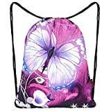 Drawstring Bag Backpack Sackpack Gym sack Sport Beach Daypack For Men & Women