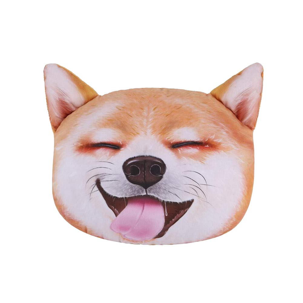 LONTA Car Neck Pillow with Auto Seat Belt Cover Seatbelt Shoulder Pad A,Husky Cute Cartoon Dog /& Cat Head Car Travel Pillow Compatible with All Cars Headrest Cushion