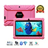 Contixo Kids Tablet K2 | 7' Display Android 6.0 Bluetooth WiFi Camera Parental Control for Children Infant Toddlers Includes Tablet Case (Pink)