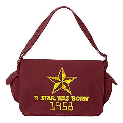 f748596347 best Tenacitee A Star Was Born 1958 Brushed Canvas Messenger Bag ...
