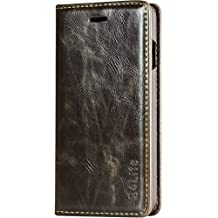 B4Life iPhone 6S Plus Case Leather with Credit Card Holder for iPhone 6 / 6S Plus (Brown)