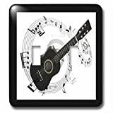 3dRose LLC lsp_50912_2 Music Notes N Guitar Double Toggle Switch