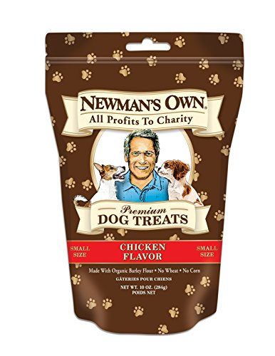Newman's Own Premium Dog Treats, Chicken, Small Size, 10-Ounce Bags (Pack of ()
