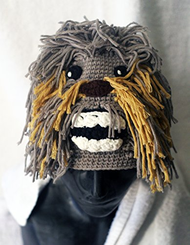 [Milk protein cotton yarn handmade Chewbacca hat - fits Adult Male] (Baby Wookie Costumes)