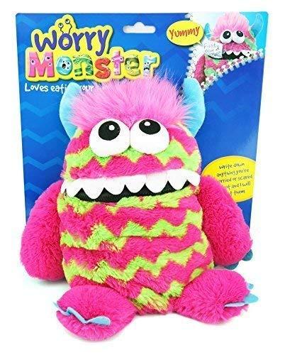 """Pms 9"""" Plush Worry Monster 3 Asst Astm Zip"""
