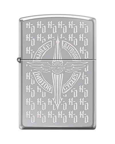 Zippo Harley-Davidson Logo All Surface Engraving High Polish Chrome Pocket Lighter