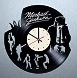 Michael Jackson Vinyl Wall Clock King Pop Unique Gifts Living Room Home Decor