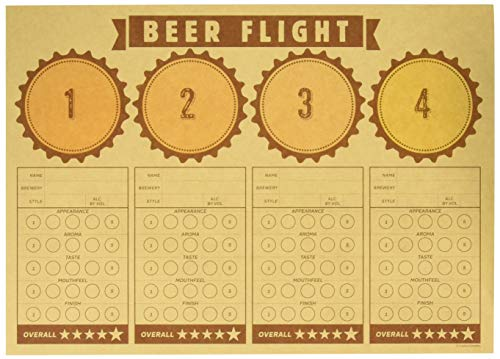 Creative Converting 325085 Cheers & Beers Beer Flight Placemats Party Supplies, 14