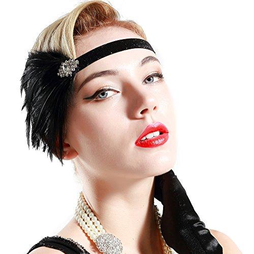 BABEYOND 1920s Flapper Headpiece 20s Great Gatsby Headband