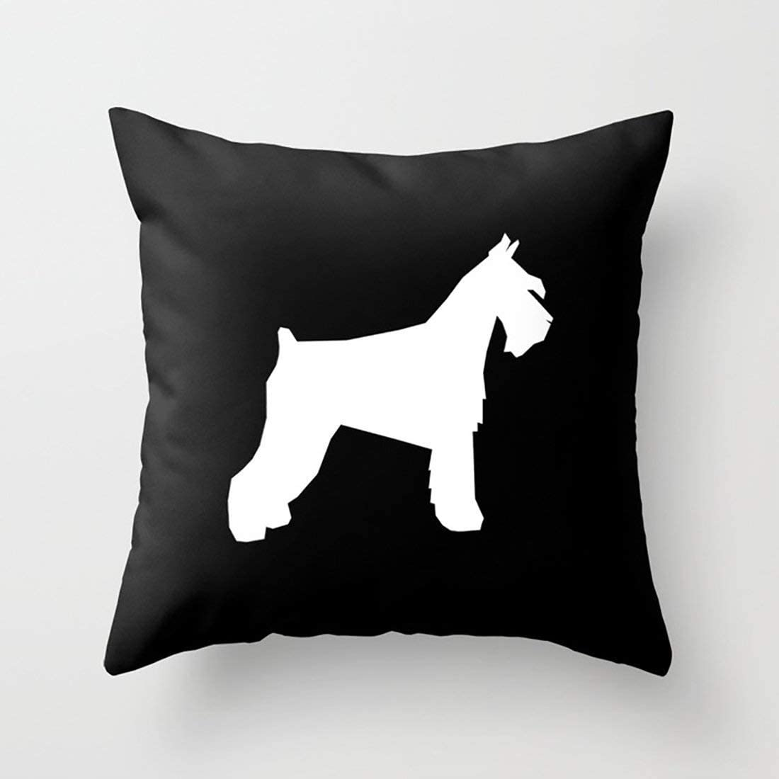 Rdsfhsp Simplicity Australian Cattle Dog in Watercolor Silhouette Cotton Cushion Throw Pillow Cover//Case Sofa Car Bedroom Etc Gifts Cotton 16x16 in