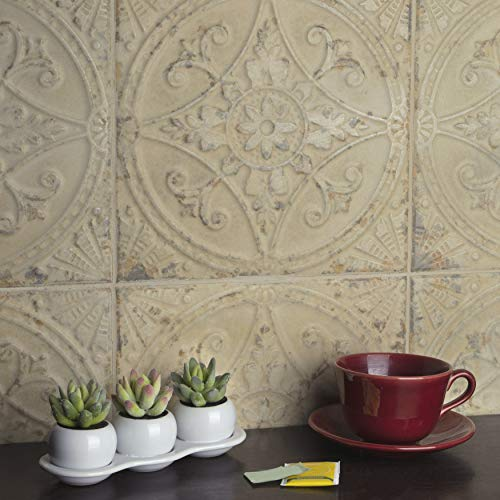 SomerTile FPESAJB Murcia Ceramic Floor and Wall Tile, 13'' x 13'', Blanco by SOMERTILE (Image #7)