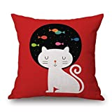 Loveloveu Cat Pillow Shams ,best For Dance Room,girls,home Theater,lover,deck Chair ArtsLifes