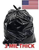 55 Gallon Contractor Bags, 3mil Extra Heavy Duty Strength, Trash Can Liners, Large Garbage Bag, 38X52 - 55 gallon (50)