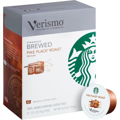 Starbucks Verismo Pike Place Roast Brewed Coffee 72 Pods