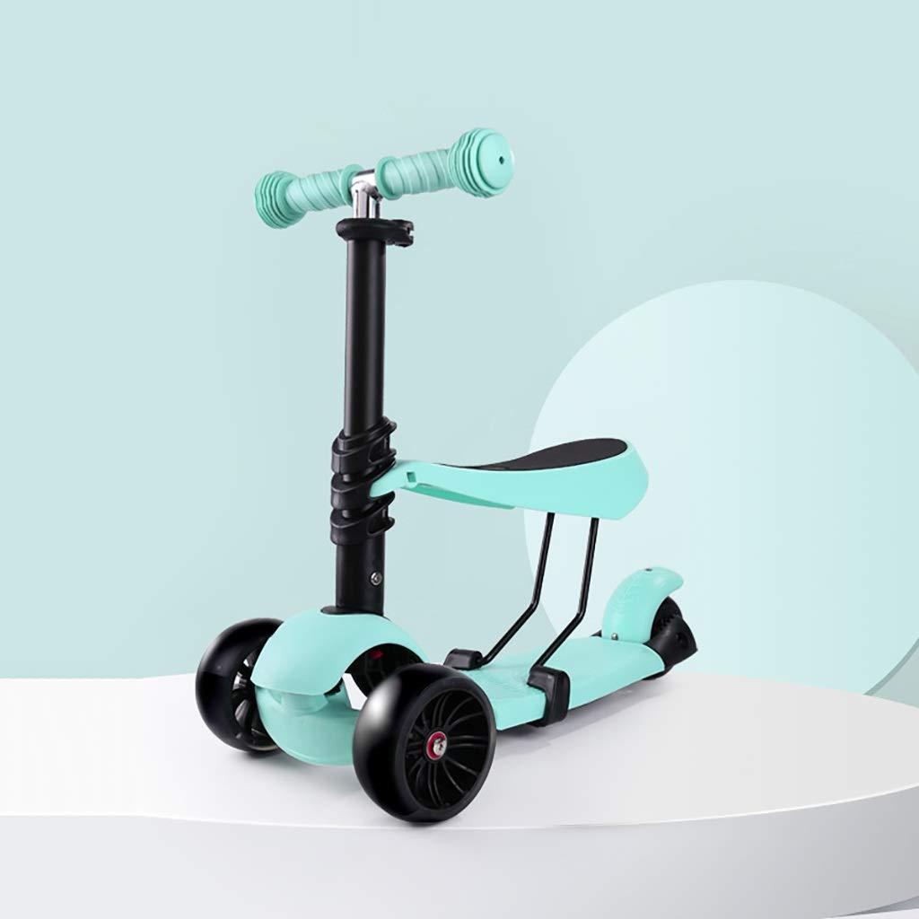 折りたたみシートと子供のためのスクーター - 2-1 - 2-1 調整可能な3輪キックスクーター - - B07R38PTZ7, オノガミムラ:e65dd775 --- keybox.com.tw