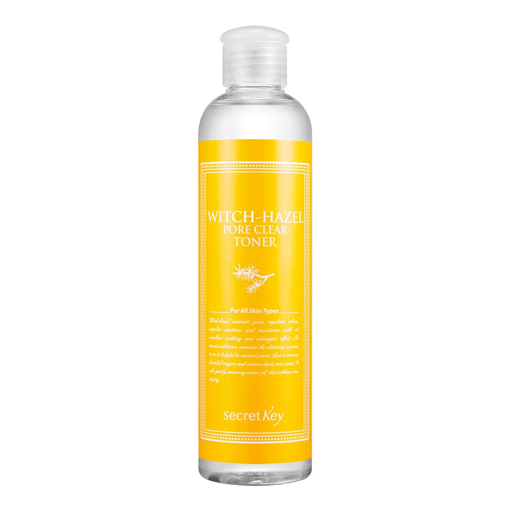 [SECRET KEY] Witch-Hazel Pore Clear Toner 8.39 fl.oz. (248ml) - Tightening Pores & Sebum Control with Moisturizing and Soothing, 15 Kinds of Botanical Extracts