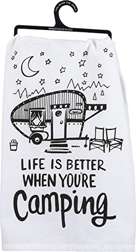 Primitives by Kathy LOL Made You Smile Tea Towel, 28