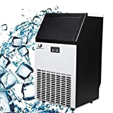 BEAMNOVA Commercial Ice Maker Machine Freestanding Ice Making Machine Built in Counter for Restaurant Bubble Bar, 35 LB Storage Bin, 68-100 LB Daily Ice Making Capacity