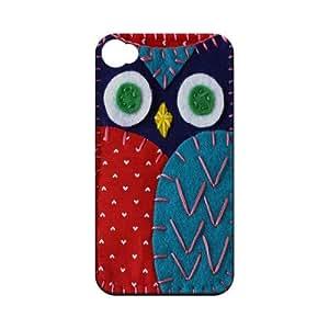 Dark Blue/ Red Owl Geek Nation Program Exclusive Jodie Rackley Series Hard Case for Apple iPhone 4/4S