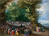 'The Sermon On The Mount,1598 By Jan Brueghel The Elder' Oil Painting, 12x16 Inch / 30x42 Cm ,printed On Perfect Effect Canvas ,this Cheap But High Quality Art Decorative Art Decorative Prints On Canvas Is Perfectly Suitalbe For Garage Decoration And Home Gallery Art And Gifts