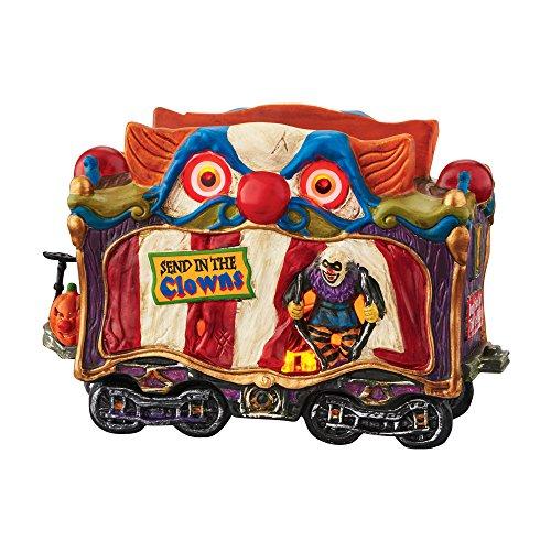 Department 56 Village Halloween Creepy Clown Car Light House, 4.69