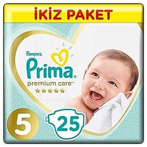 Prima Bebek Bezi Premium Care 5 Beden Junior İkiz Paket 25 Adet