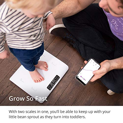 51v5HqQMBBL - GreaterGoods Smart Baby Scale, Toddler Scale, Pet Scale, Infant Scale With Hold Function, Free App Included