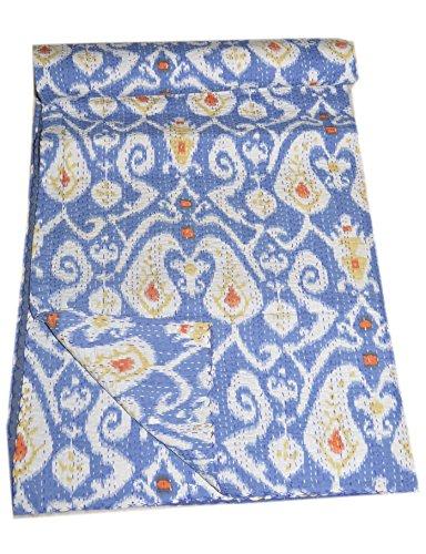 Tribal Asian Textiles Handmade Quilt Vintage Throw Cotton Queen Blanket Gudri Kantha Bedspread_Paisley
