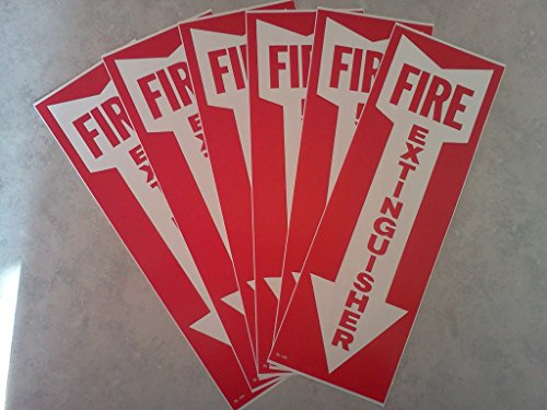 5-Signs-Signs-Fire-Extinguisher-wArrow-Self-Adhesive-Vinyl-4-x-12
