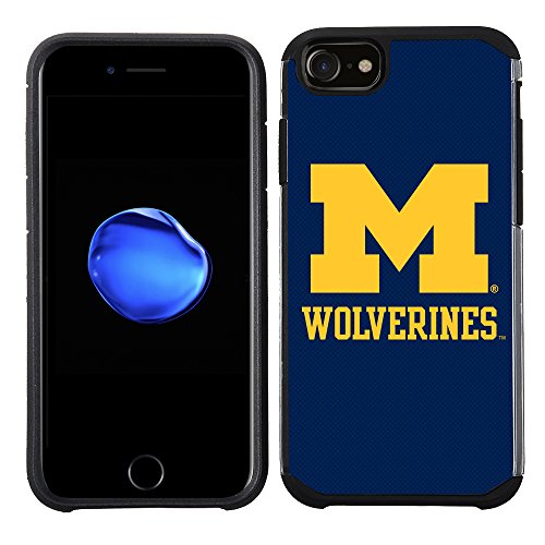 - Prime Brands Group Textured Team Color Cell Phone Case for Apple iPhone 8/7/6S/6 - NCAA Licensed University of Michigan Wolverines